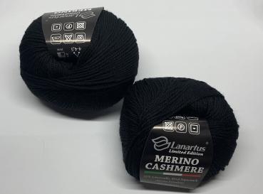 Merino-Cashmere - schwarz 50g